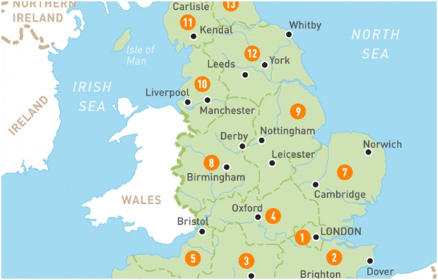 What Is The National Map of England?