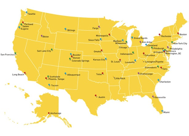 Best Cities Map In the World And Us