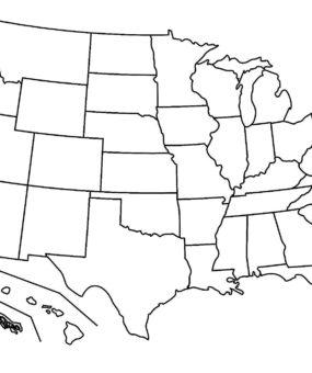 Blank Map Of the USA WhatsAnswer