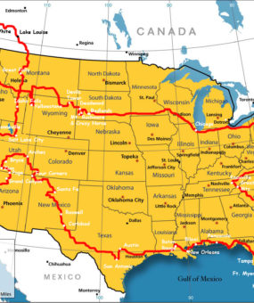 Boundary Map Of The USA With Canada | WhatsAnswer