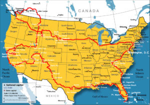 Boundary Map Of The USA With Canada