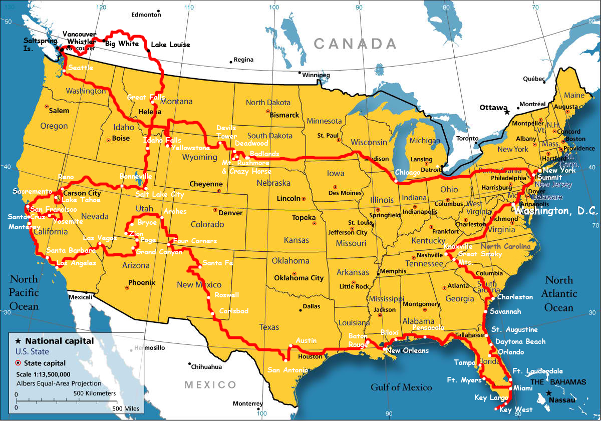 Map Of Canada And Use Boundary Map Of The USA With Canada | WhatsAnswer