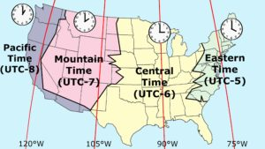 Time Zone Map of the USA   Most Popular Time Zone Map