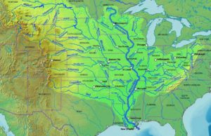 Mississippi River Map of USA