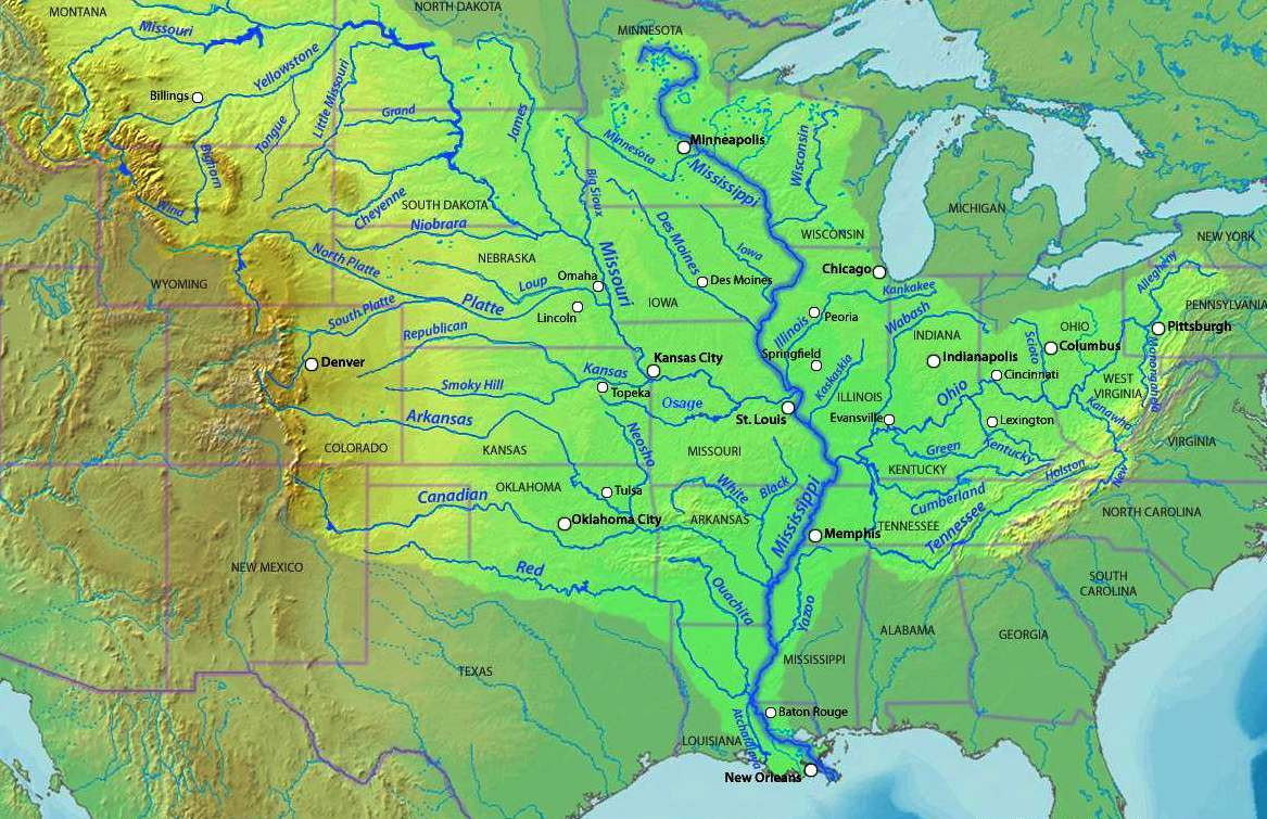 united states map mississippi river Us Mississippi River Map Whatsanswer united states map mississippi river