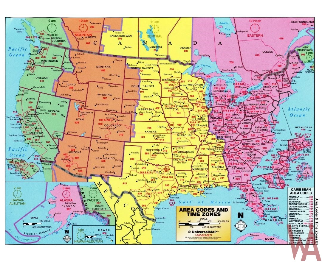Vector Time Zone Map of USA with Capital and Cities | WhatsAnswer