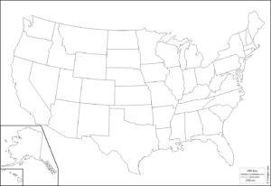 US Map US State Map Map Of America WhatsAnswer - Blank Us Map Printable Pdf
