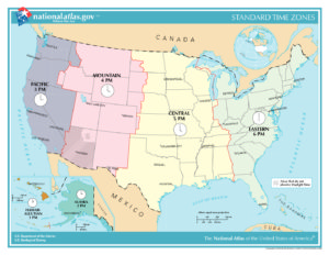 pdf time zone map of the usa