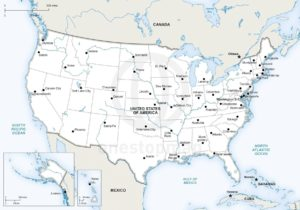 united states map showing major rivers