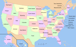 USA Large Administrative Map