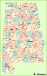 Alabama Large Detailed  Map |  Large  Detailed  Map of Alabama