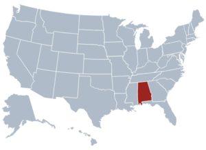Alabama Location  Map     Location  Map of Alabama