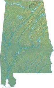 Alabama Physical  Map |  Physical  Map of Alabama