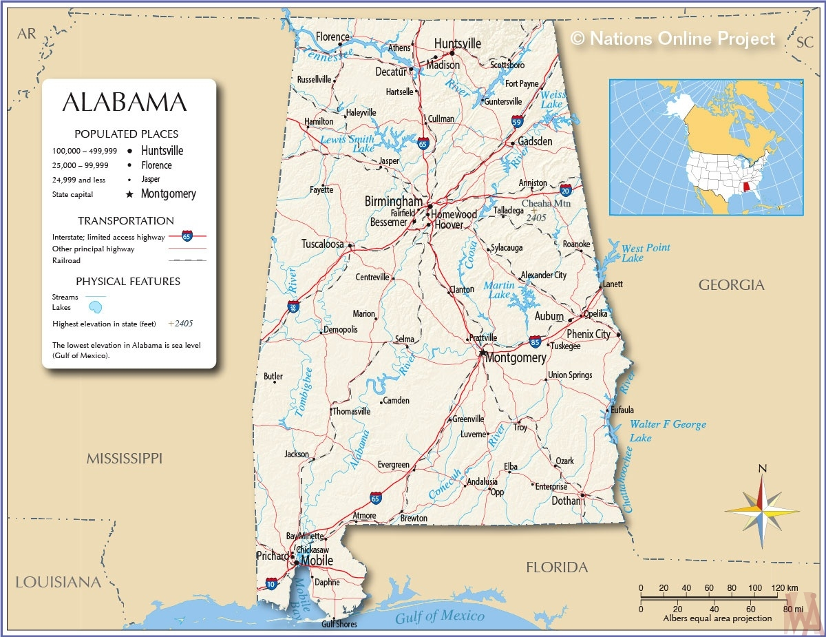 Alabama map | National Online Project