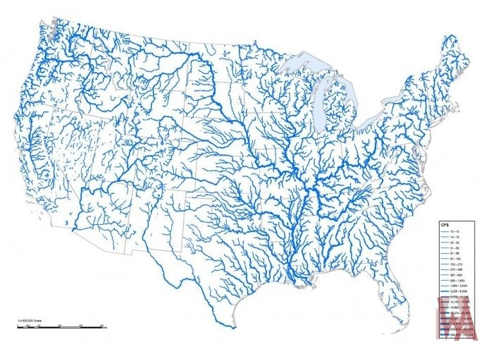 River And Lake Maps of the USA | WhatsAnswer