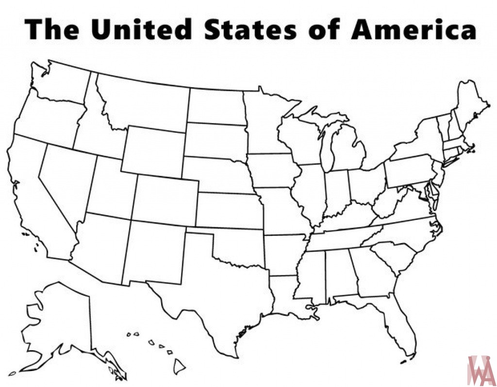 Outline Map of the USA
