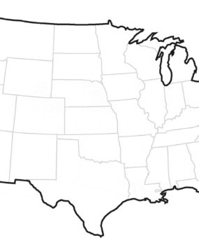 Blank Outline Map Of The United States 5 WhatsAnswer - Blank Map Of Us High Quality