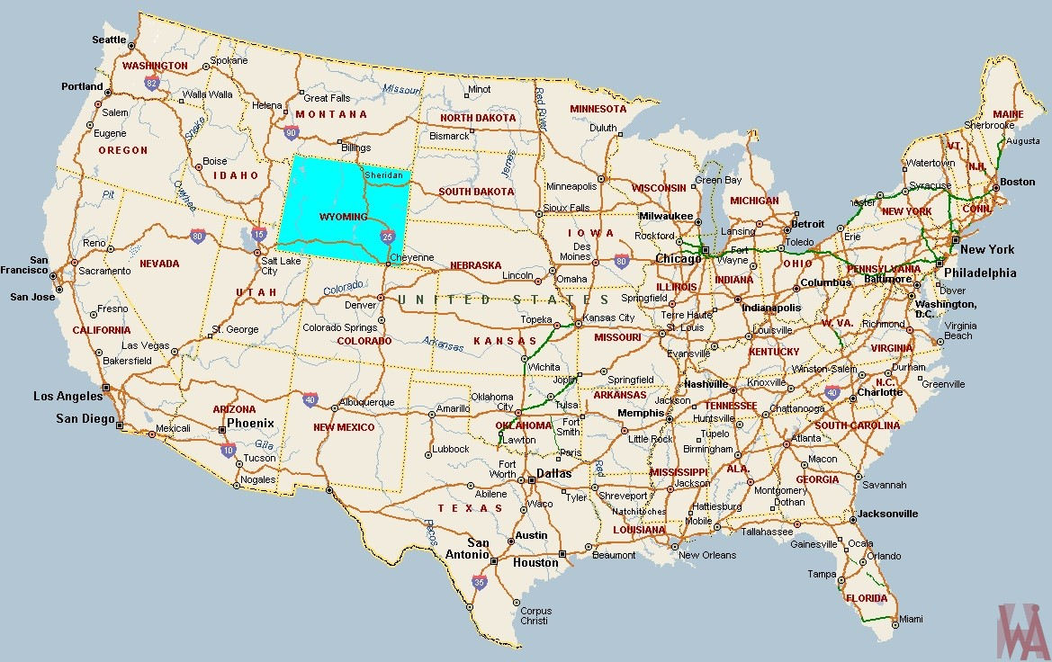 Blank Outline One Color Map of United States || Major Rivers Map