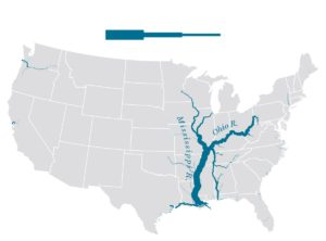 Great River Mississippi Road Map || River Map of the USA
