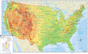 Rivers and Lakes Map of the United States
