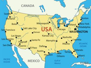 Large Rivers map of the United States