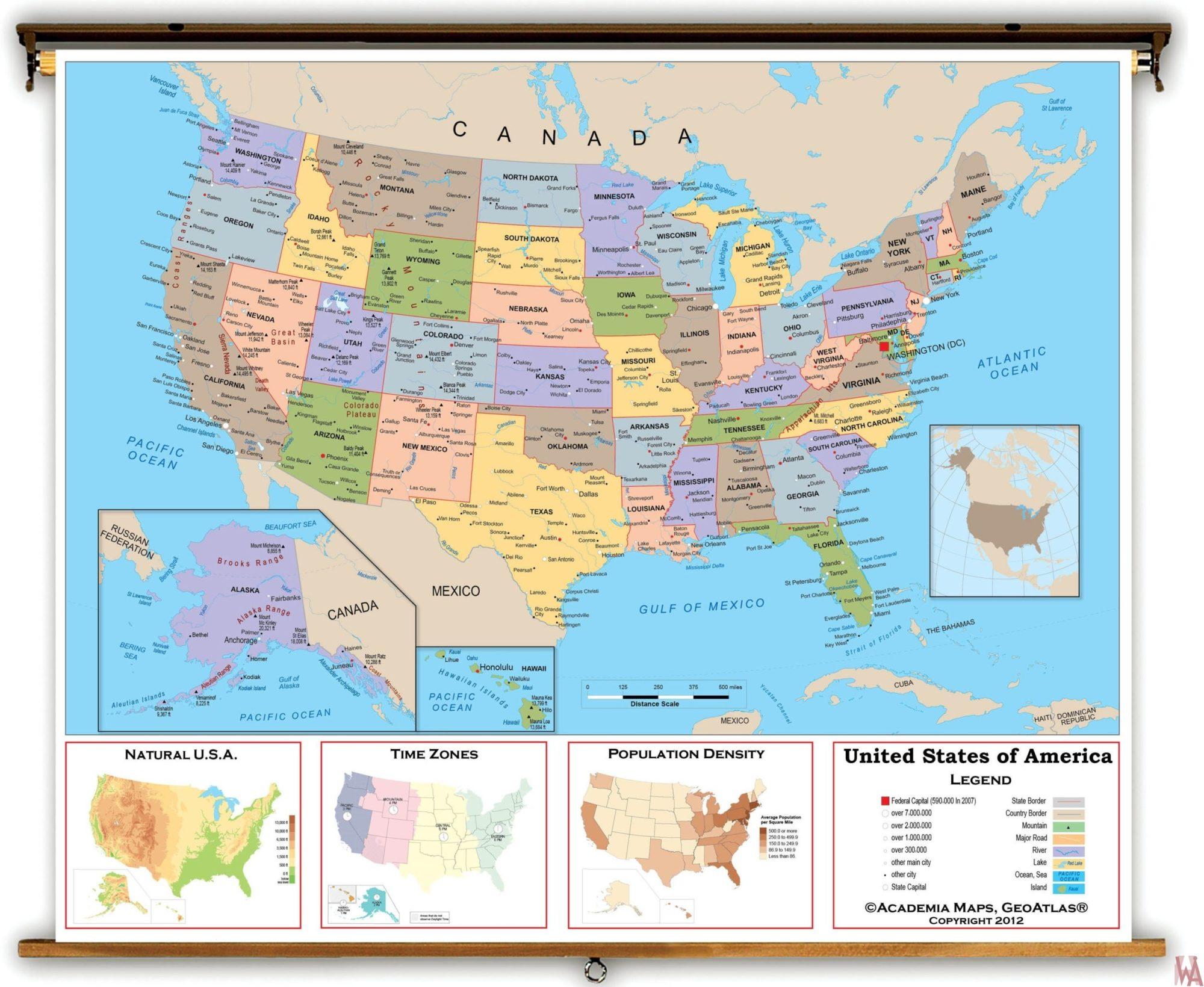Large Political Map of USA | US Map