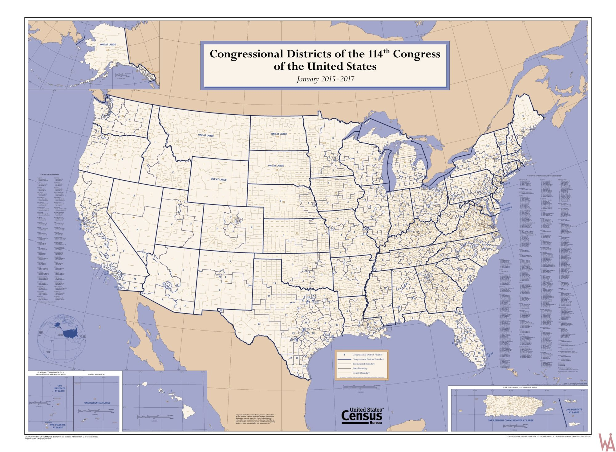 Low Quality Congressional District Map of the US