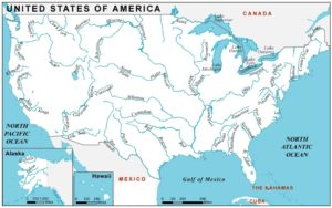 River Map of USA | US Geography Map