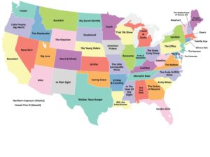Most popular State wise Tv show map of the USA