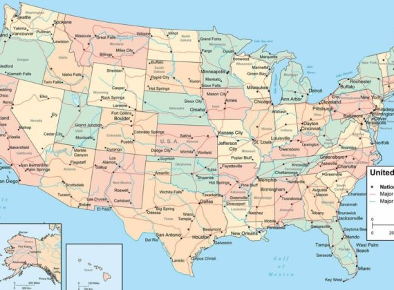 National Capital, States Capital,Major Cities, Roads and Rivers Map ...