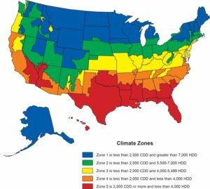New Climate Zone Map of the USA   US Weather Map