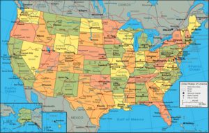 Political  map of the United States 1