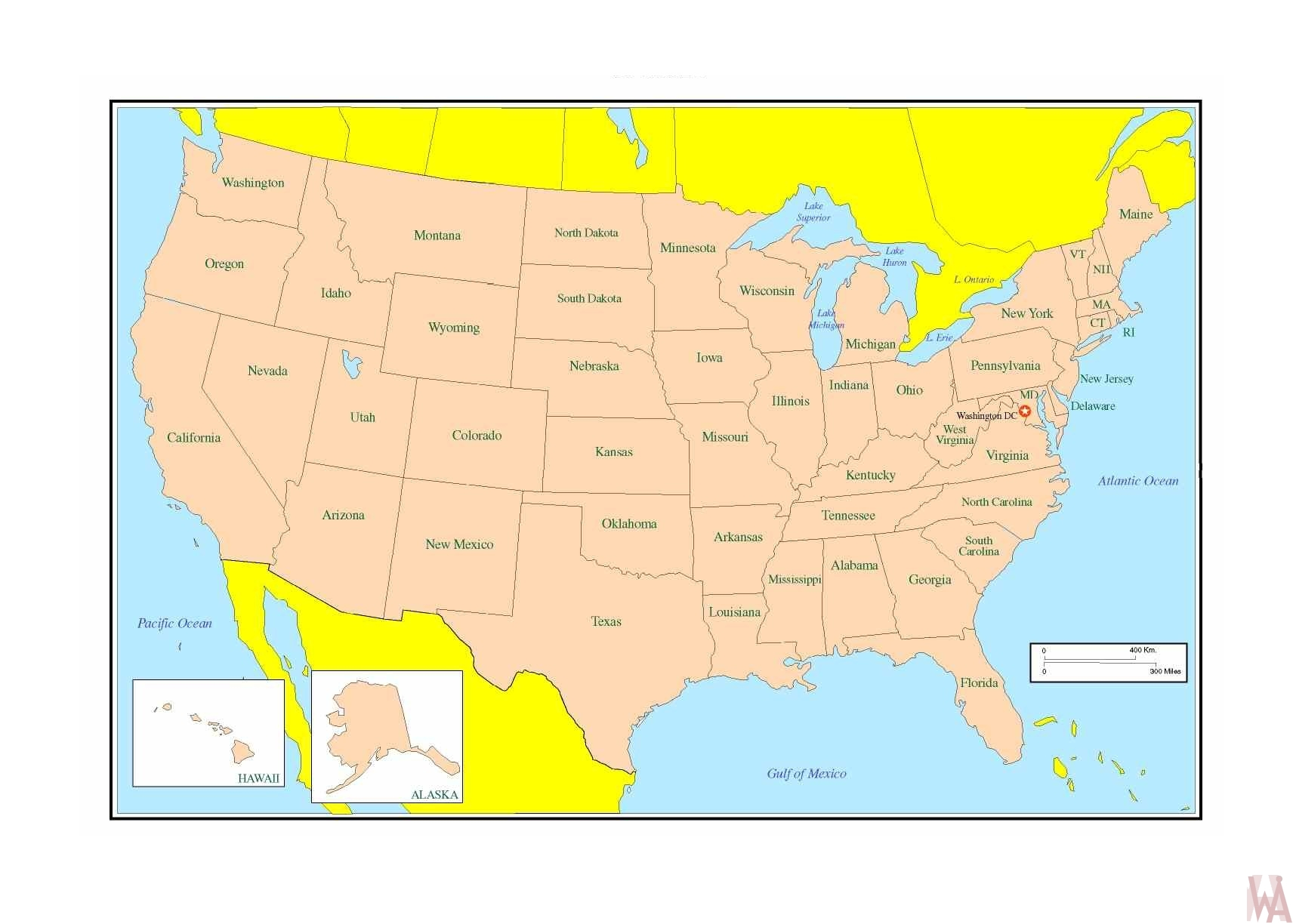Political  map of the United States 4