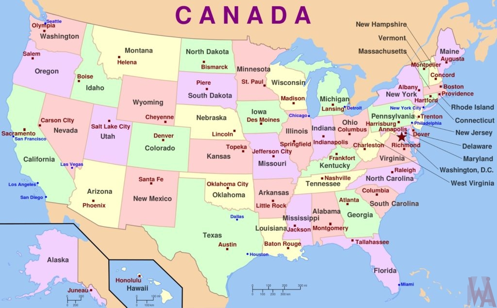 Map Of America 52 States.Top 10 Punto Medio Noticias 52 States Of America List And