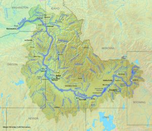 Snake River Map of the USA