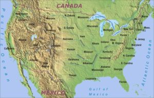 The Map of the USA Geographical and Physical