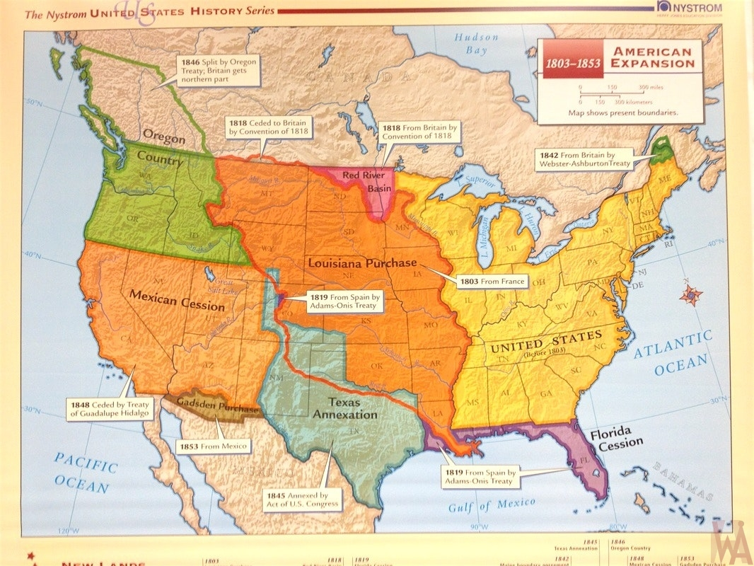 US History American Expansion map | WhatsAnswer