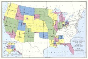 US Public Land Servery map