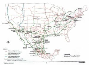 US and Mexico Waterway trade corridors