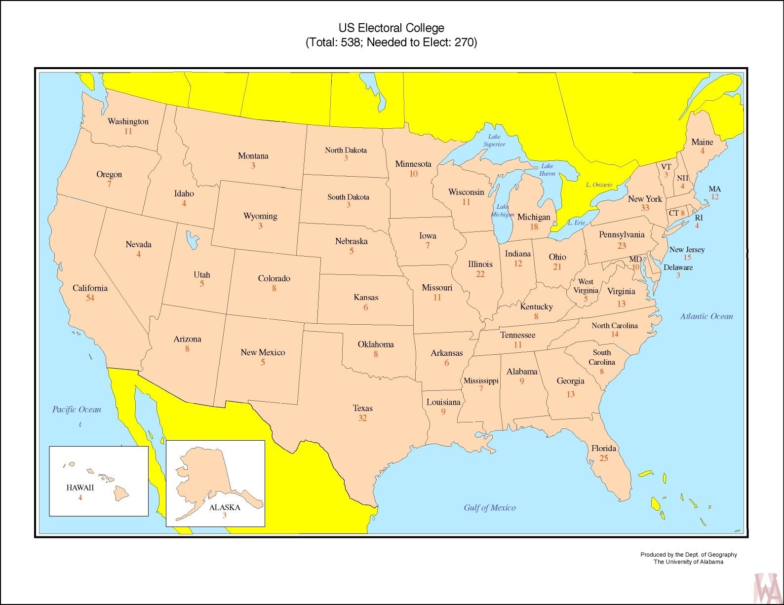 US electoral College votes