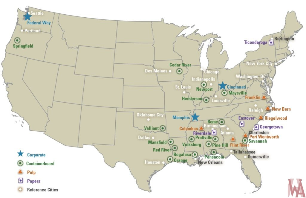 USA great industry commercial cities map WhatsAnswer