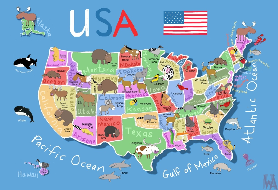 United States Animal Map WhatsAnswer