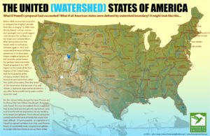 United States River watersheds map  by Sonoran Institute
