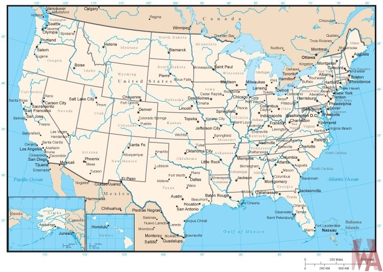 united states rivers water flows map 1