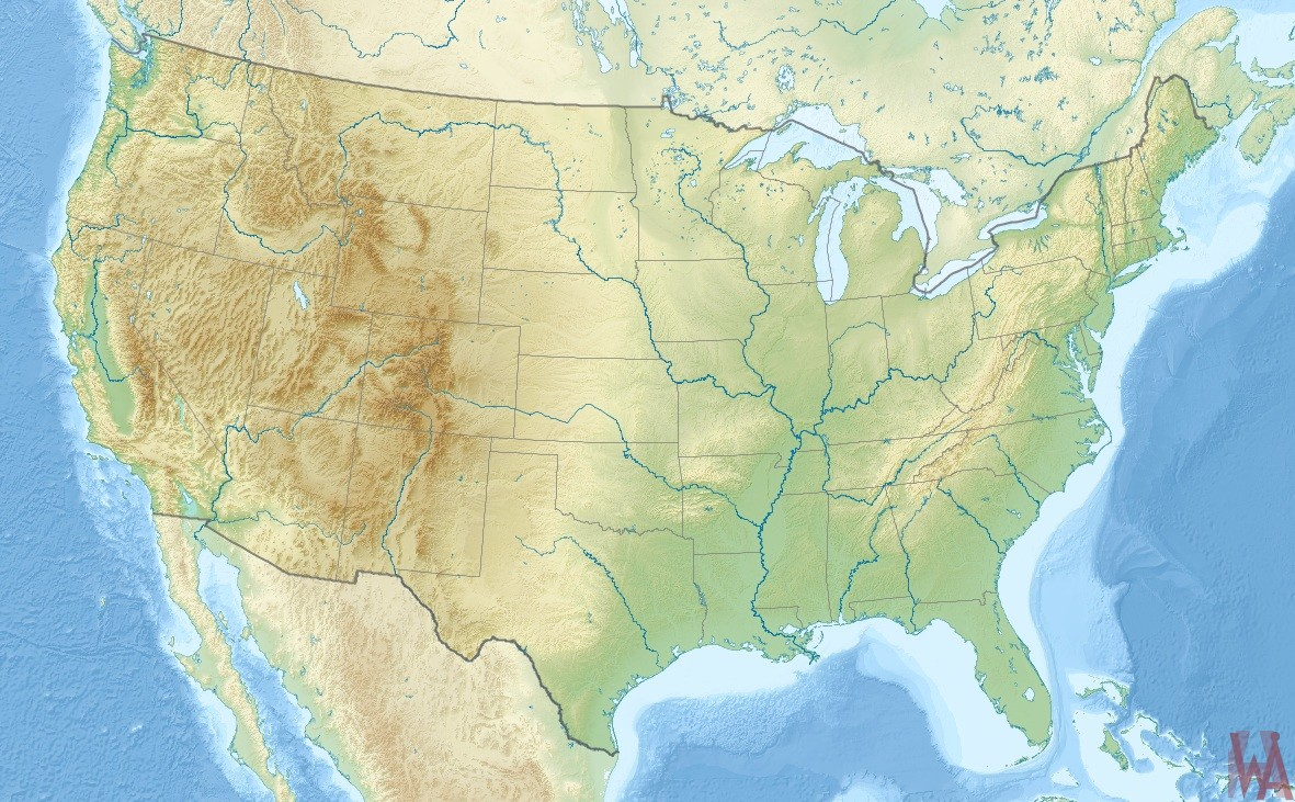 US Physical, Geographical, Rivers, And Mountain Map | US Wall Map