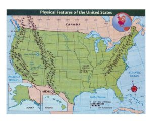 detailed physical features map of the united states