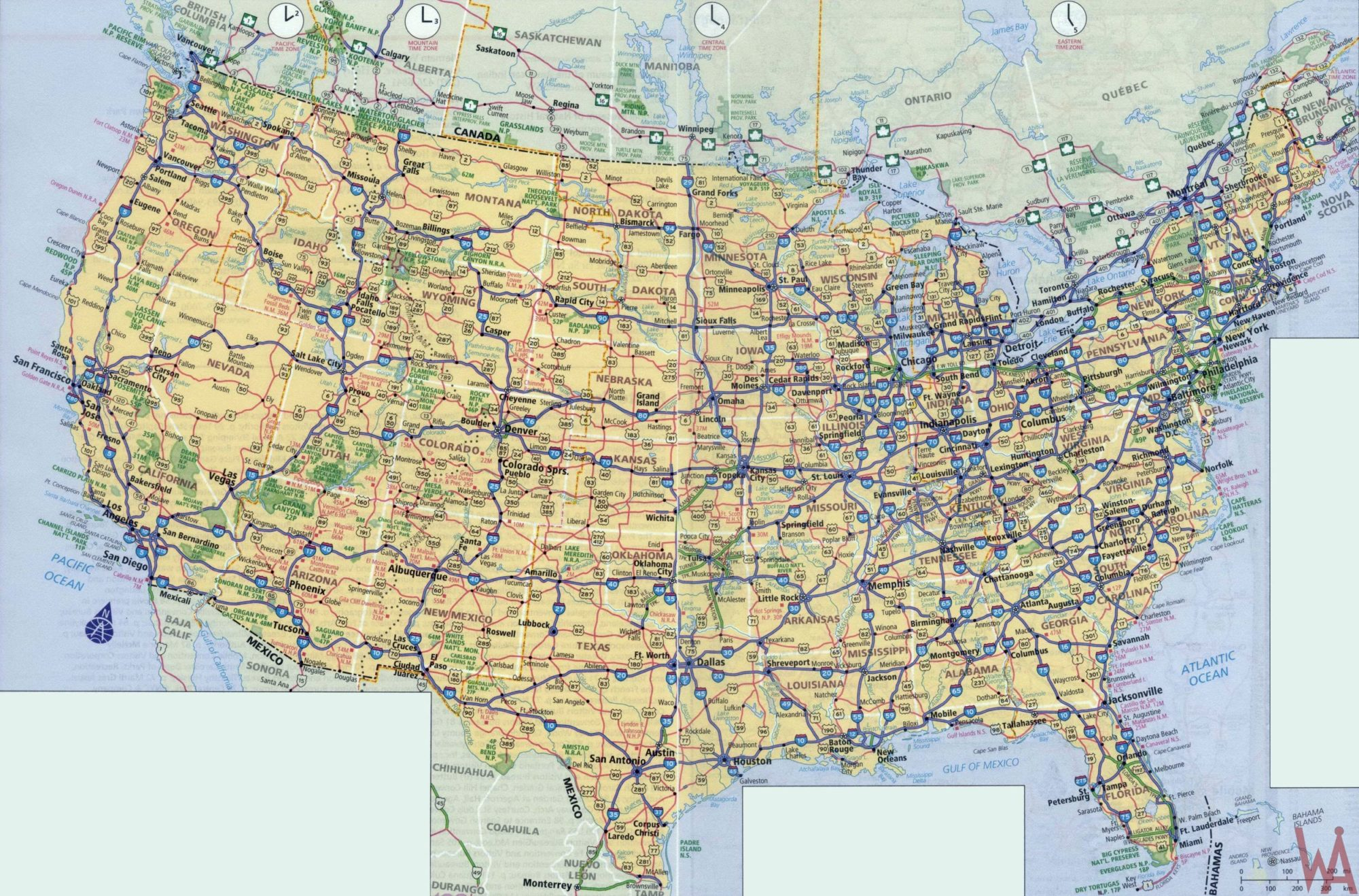 High Resolution Highways Map of US | US Political Map