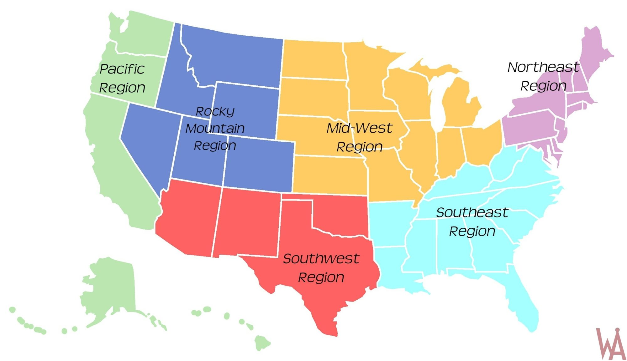Interactive Region Map of USA | US Map