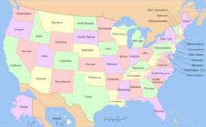 Large State Map of USA | US State Map