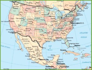 Political Map of USA | USA Map With Political Border